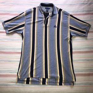 Vintage IZOD Polo Vertical Striped 90's Preppy